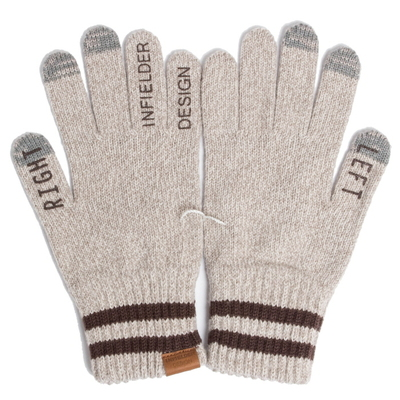 Right Left Gloves_Beige/Brown