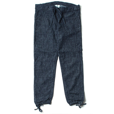 SILK NEP DENIM TROUSERS