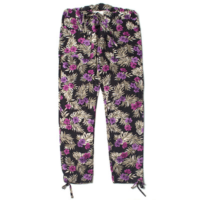 LINEN FLORAL CATCH ALL TROUSER
