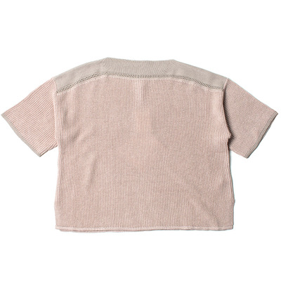 LOOSE KNIT TEE_FLAMINGO