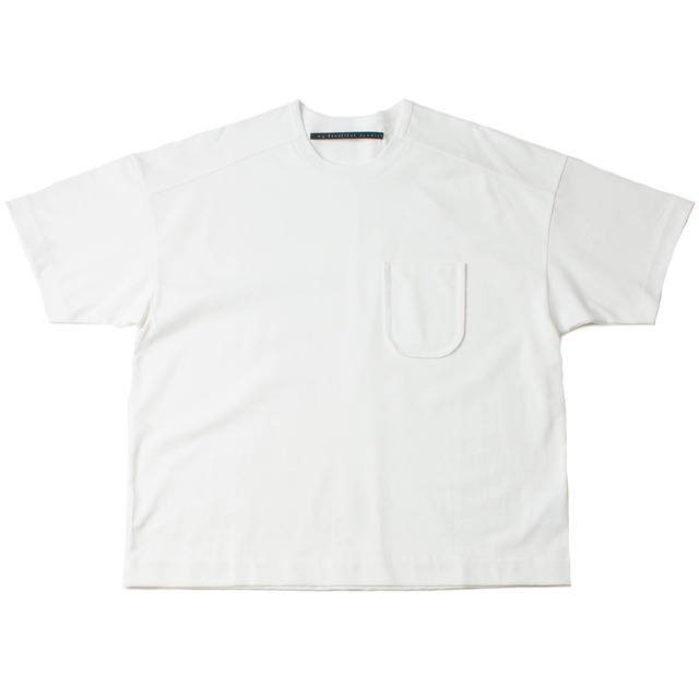 DYED KNITTED FABRIC T-SHIRT_OFF WHITE