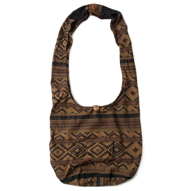 ETHNIC COTTON BAG_BROWN