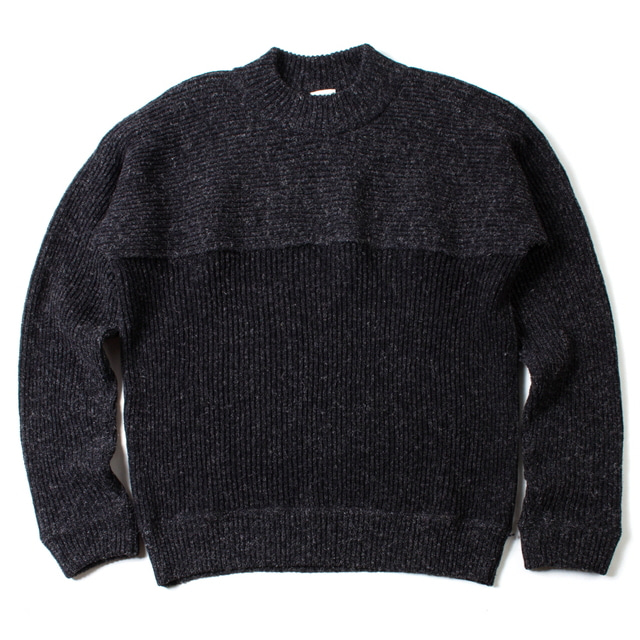 KNITTED CREW NECK SWEATER_BLACK