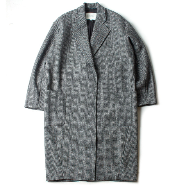 MODEM OVER COAT_GRAY HERRINGBONE