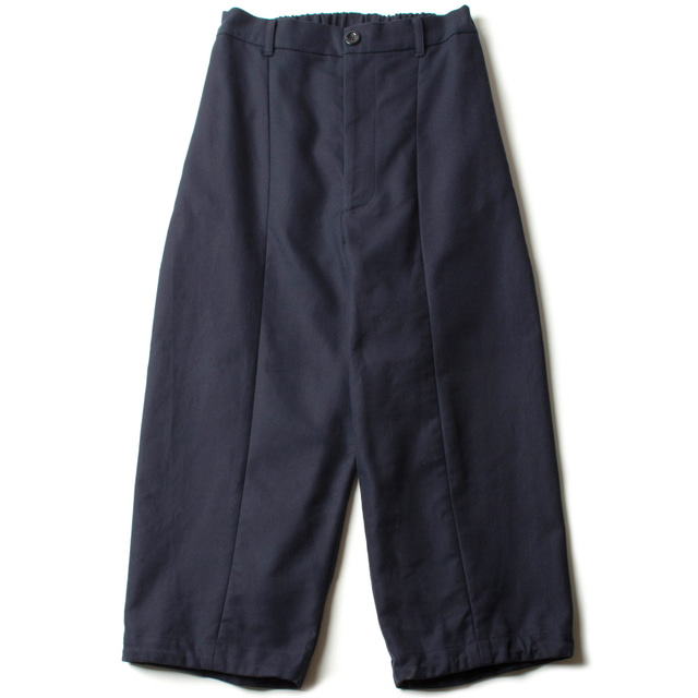 DOUBLE CLOTH WIDE PANTS_NAVY