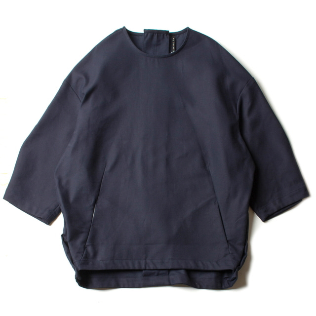 DOUBLE CLOTH PULLOVER_NAVY