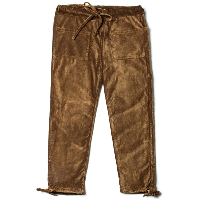 CATCH ALL TROUSER_GOLD VELVET