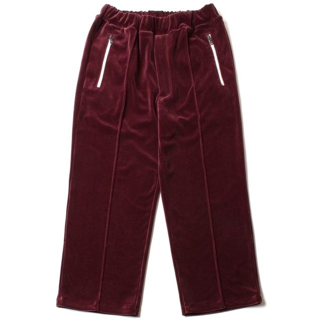 C/E HEAVY VELOUR EASY JERSEY PANTS_WINE