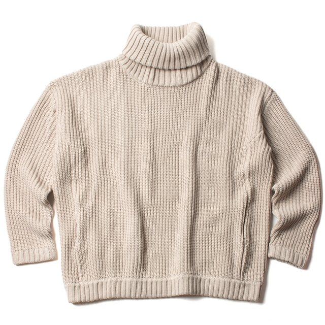 LOW-GAUGE TURTLE KNIT_BEIGE