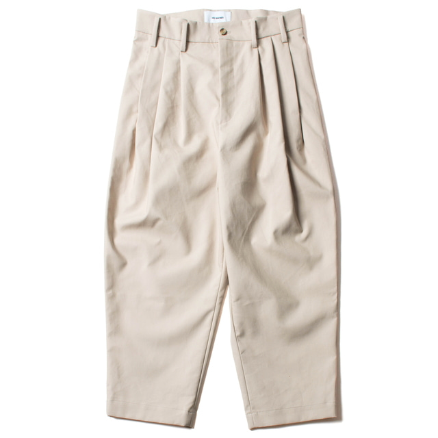 ROUND HIGHWAIST PANTS_BEIGE