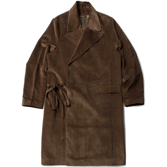 TAILORED COAT_KHAKI VELVET