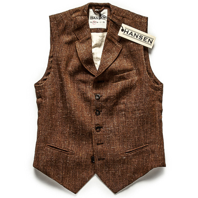 CLASSIC CASUAL VEST_BROWN