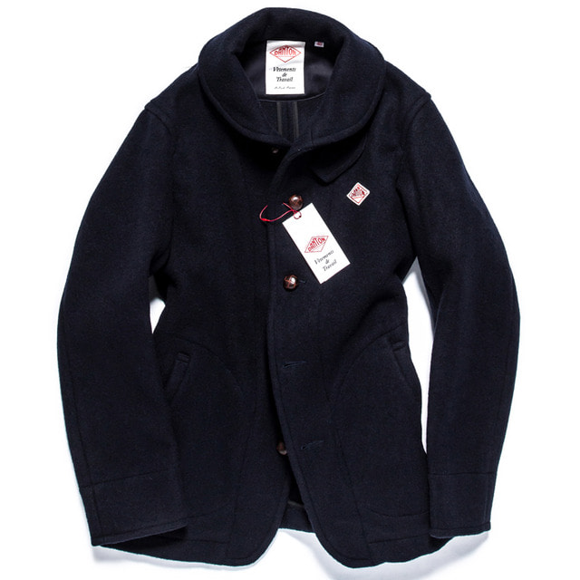 WOOL MOSSA SINGLE JACKET_NAVY