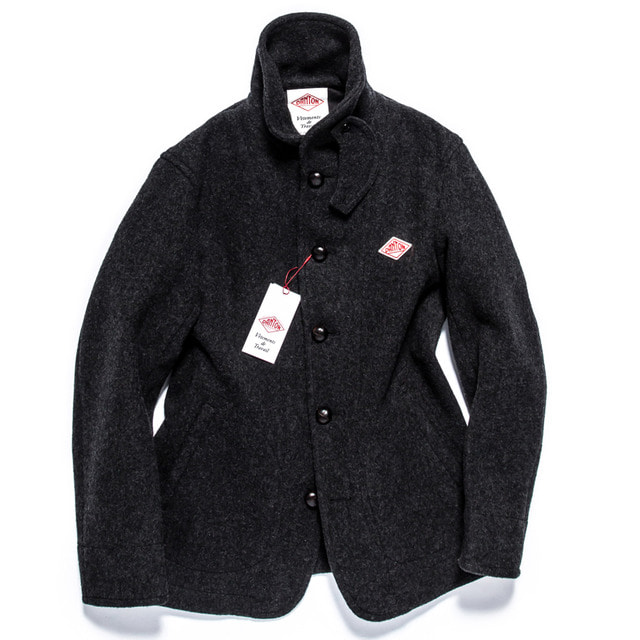 WOOL MOSSA SINGLE JACKET_CHARCOAL