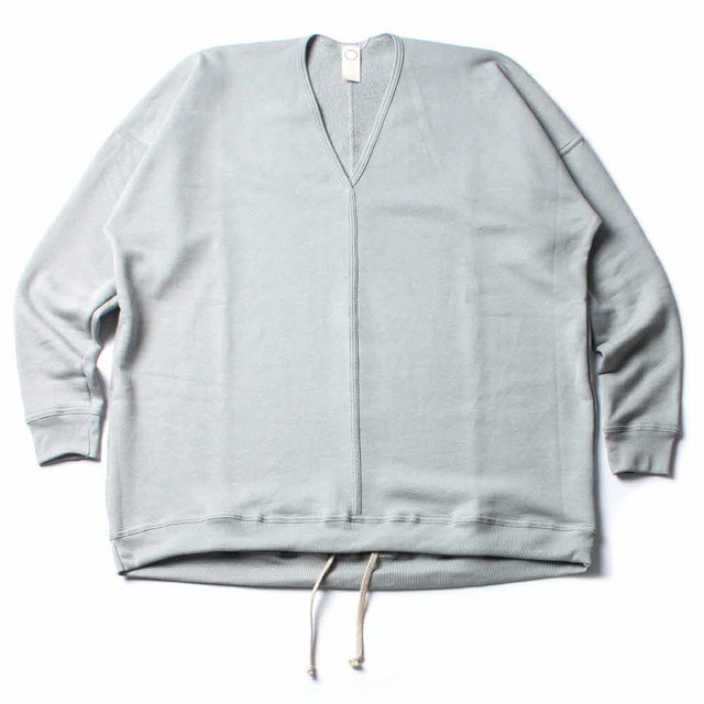 V_NECK SWEAT_GRAY