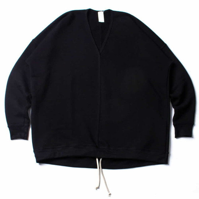 V_NECK SWEAT_BLACK