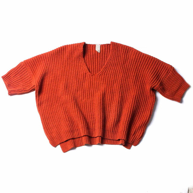OVERSIZED KNITTED T_ORANGE