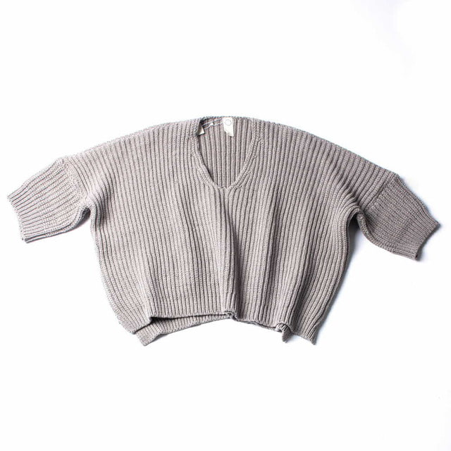 OVERSIZED KNITTED T_GRAY