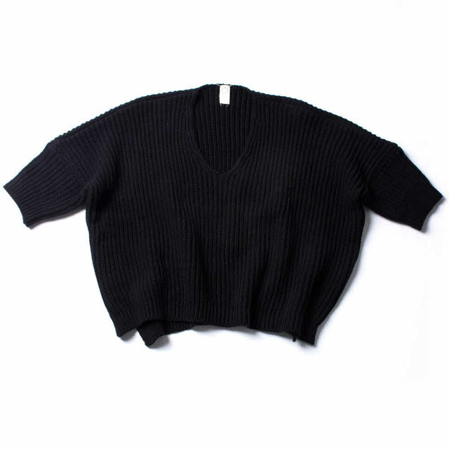 OVERSIZED KNITTED T_BLACK