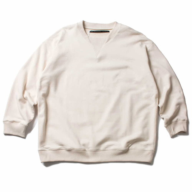 FLEECY KNITTING SWEAT_OFF WHITE