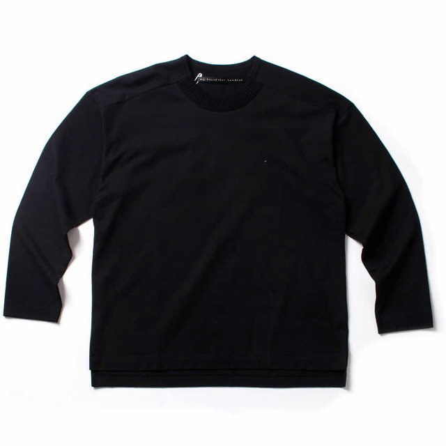 PLAIN STITCH L/S_BLACK