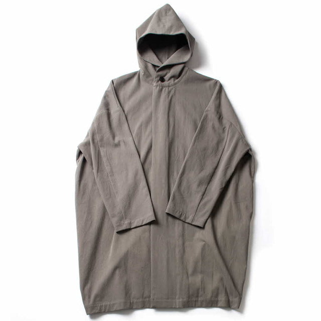 COTTON HOODED COAT_GRAY