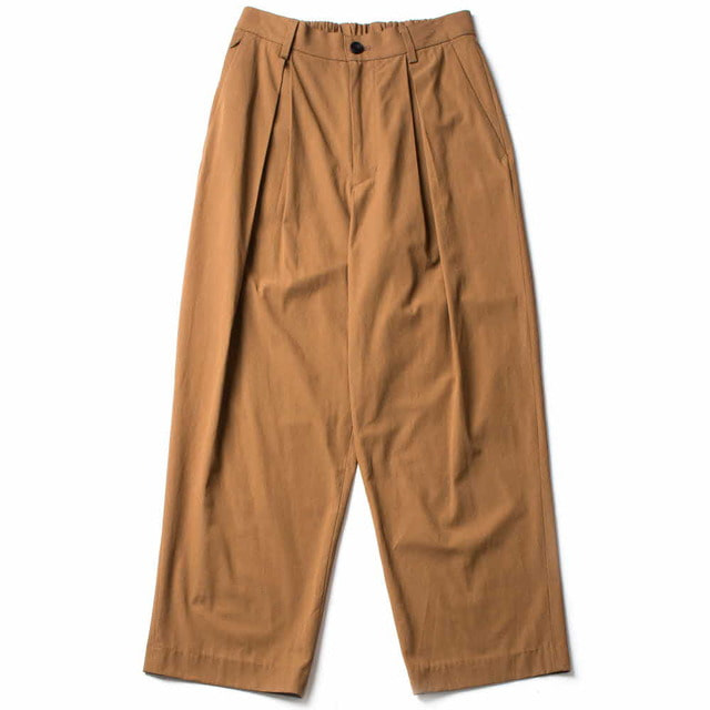 WIDE EASY TROUSERS_BROWN