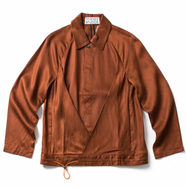 TUCKED JACKET_BROWN