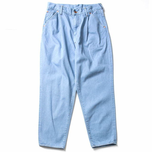 DENIM TUCK WIDE TAPE_SAX