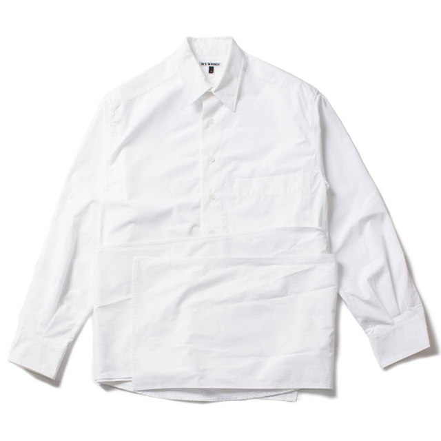 WRAP AROUND SHIRT_WHITE