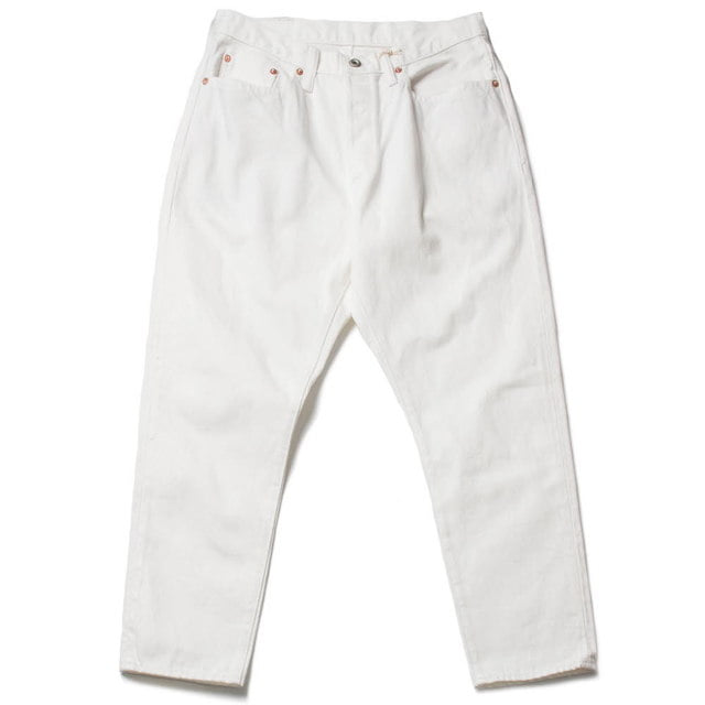 WHITE DENIM TAPERED 5P
