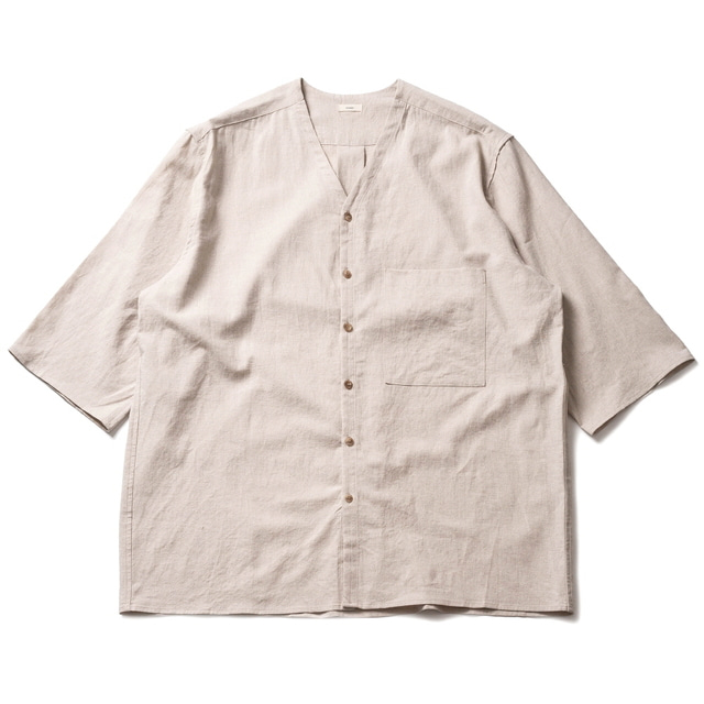WHARF CARDIGAN LINEN_NATURAL