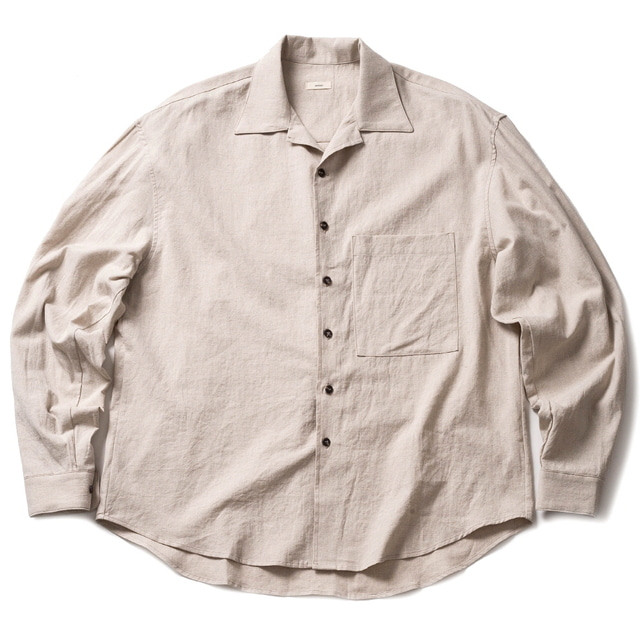 WHARF LS SHIRT LINEN_NATURAL