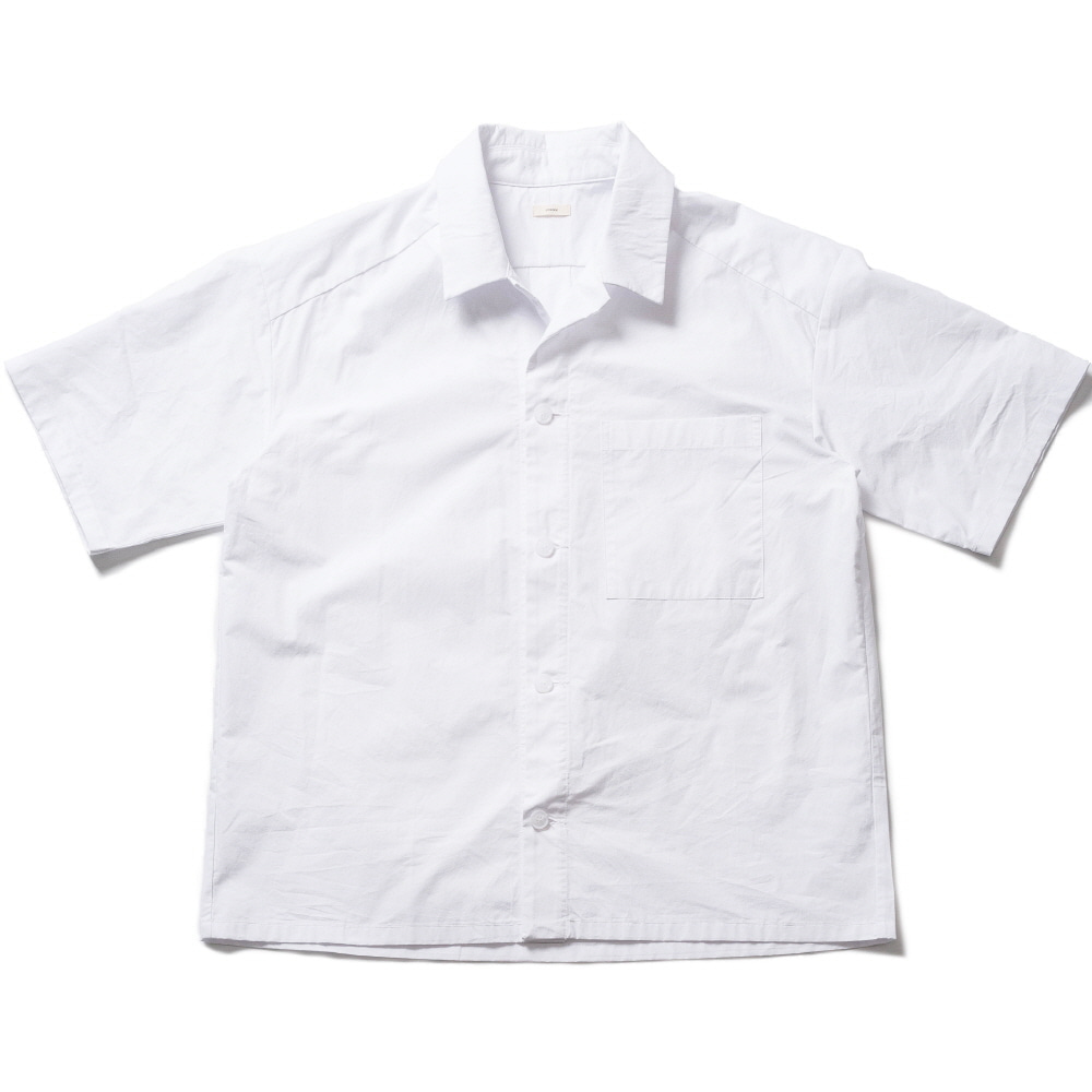 WHARF COTTON SS SHIRT_WHITE