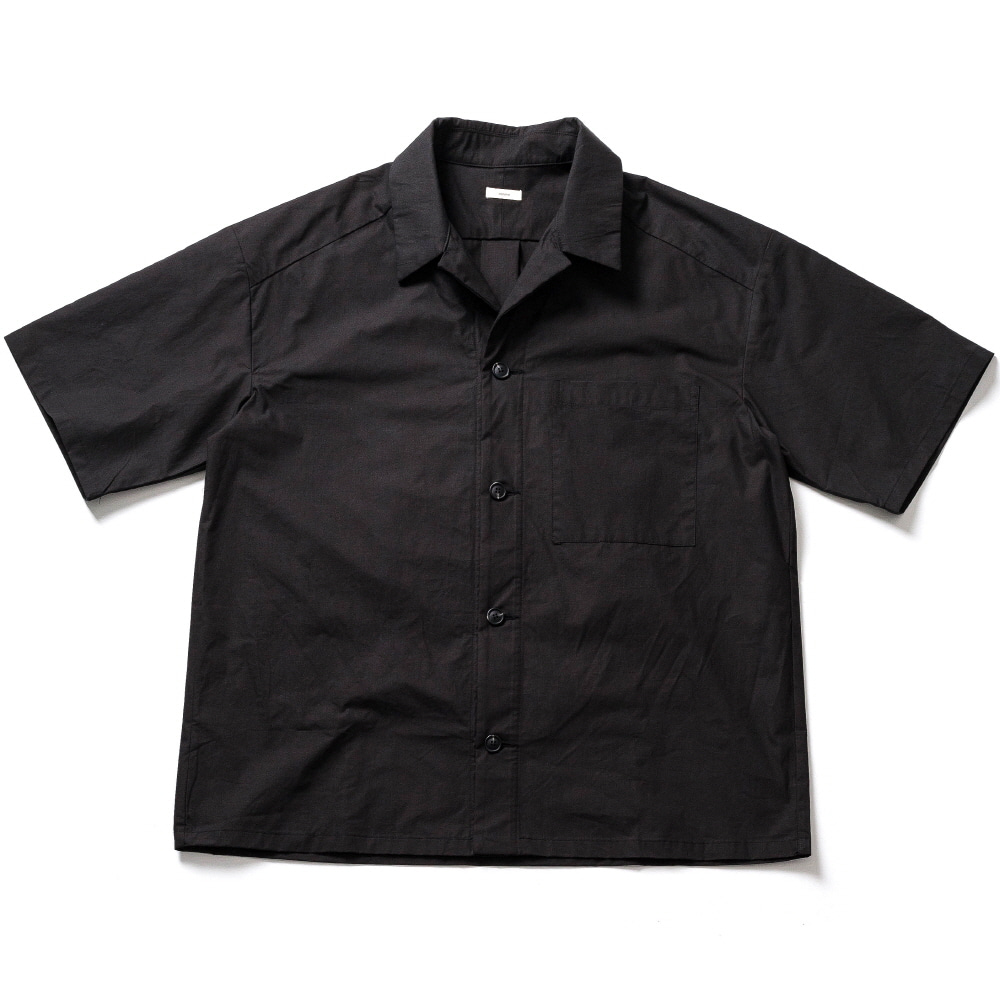 WHARF COTTON SS SHIRT_BLACK