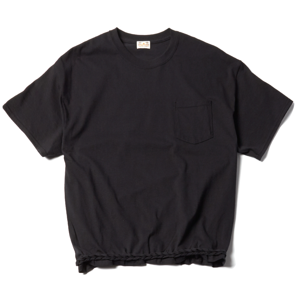 WAVE POKET T- SHIRT BK