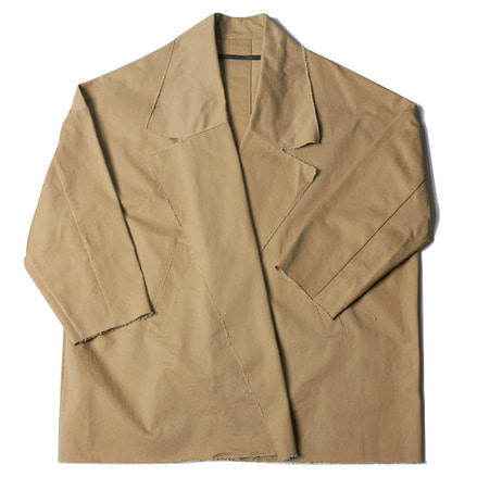 COMPACT CHINO BIG WIDE JACKET - BEIGE