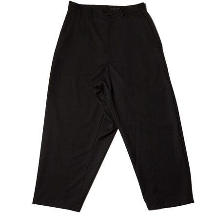 TWILL WIDE WARP PANTS - BLACK