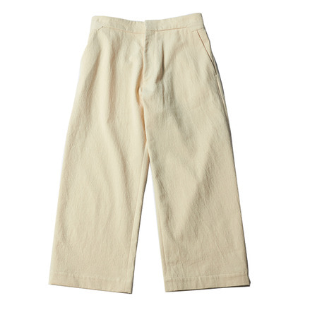 BOSS SUEDEHEAD WOOL TWILL PANTS _ CREAM