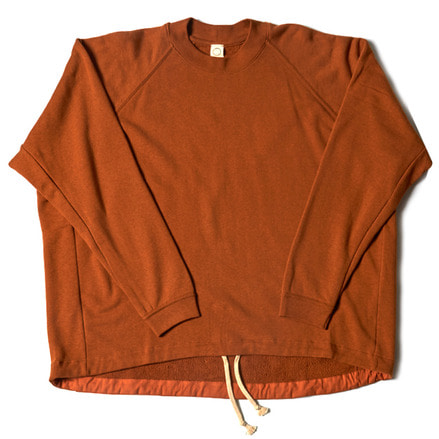 WIDE FIT CREW NECK SWEAT _ SAFFRON