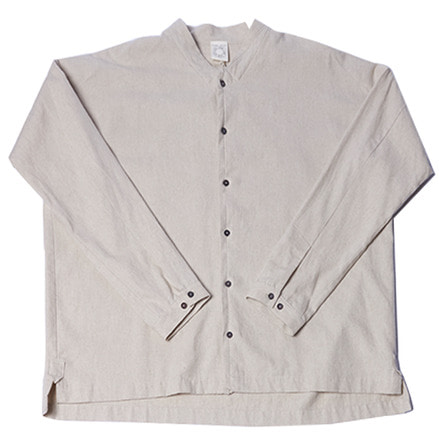 SHIRT#66 - NATURAL BRUSHED FLAX/COTTON