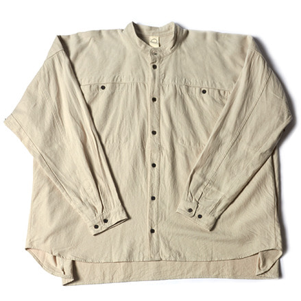 WIDE 2POCKET SHIRTS _ CHALK