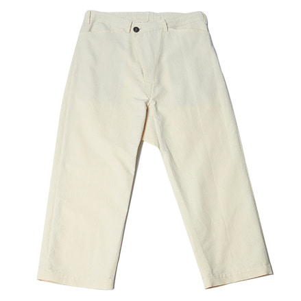 TROUSERS#47 - NATURAL COTTON/WASHI TWILL