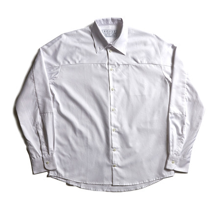 LOOSE CUT SHIRT WITH SLEEVE INSERT_WHITE