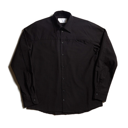 LOOSE CUT SHIRT WITH SLEEVE INSERT_BLACK