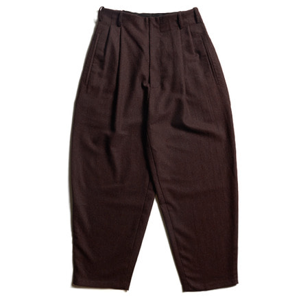LOOSE CUT TROUSERS WITH DEEP PLEATS; NO WAIST BAND_OXBLOOD