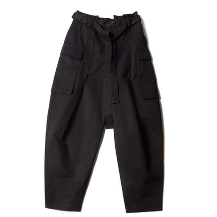DECONSTRUCTED WAISTBAND PANTS_BLACK
