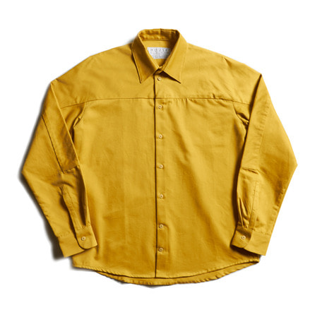 LOOSE CUT SHIRT WITH SLEEVE INSERT_YELLOW