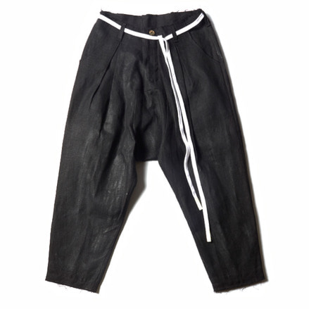 JOHANN LINED TROUSERS_BLACK HANDPAINT