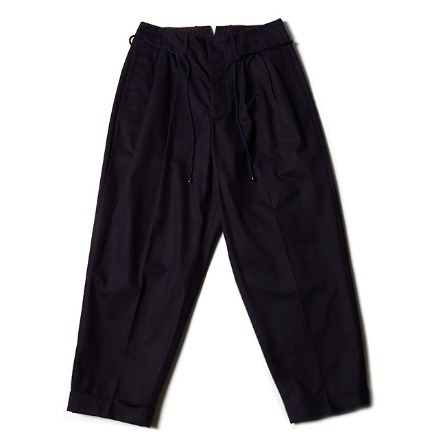 BELTED WIDE PANTS_NAVY